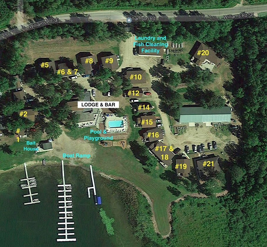 wishbone resort aerial map